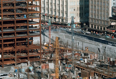 Pacific Centre [construction progress], July 1969, City of Vancouver (vancouverbyte) Tags: vancouver oldvancouver vancouverarchives vintagevancouver