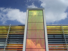 Derby Architecture (Tony Worrall) Tags: county windows england college colors lines architecture modern design rainbow place photos derbyshire visit things images location study slats blocks colourful derby metalic 2014tonyworrall