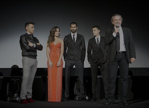 """Rubén Cortada, Hiba Abouk, José Coronado y Álex González en la premiere de """"El Príncipe"""""""