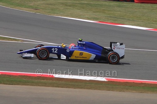 Felipe Nasr in Free Practice 2 for the 2015 British Grand Prix at Silverstone