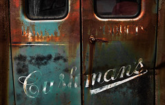Baked Goods (Junkstock) Tags: door old windows white color green abandoned window truck vintage dark advertising typography photography photo graphics junk rust paint doors graphic photos decay transport maine goldenrod rusty advertisement nostalgia photographs photograph rusted transportation type nostalgic americana weathered trucks aged artifact oldcars distressed corrosion decayed patina corroded relic rustyandcrusty oldstuff oldandbeautiful oldusedobjects altebenutztegegenstände