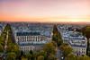Parisian Gold (Nomadic Vision Photography) Tags: sunset paris pastels elegant arcdetriomphe classicalarchitecture autumncolour jonreid tinareid nomadicvisioncom