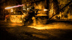 Cosplay Urban War Zone - DSC02906 (cleansurf2) Tags: wallpaper fire costume gun industrial cosplay widescreen screen mission missile hd ultra prop 4k saver 16x9