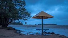 Summer storm (pilot3ddd) Tags: stpetersburg lisiynos gulfoffinland beach storm summerstorm beachumbrella olympuspenepl7 panasoniclumixg20mmf17
