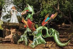 Il Giardino dei Tarocchi (bellinipaolo31) Tags: fc03911 paolobellini ilgiardinodeitarocchi garavicchio pesciafiorentina capalbio grosseto nikidesaintphalle scultura arcanimaggiori tarocchi principessa drago