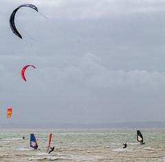 windsurfers (Mike Hickish) Tags: windsurfers beech wind