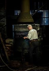 Iron man (Matthew Johnson1) Tags: family ironbridge blistshill foundry working man iron light work sigma 2470mm shropshire indoor lighting victorian victoriantown demonstration museum gorgemuseums gorge life