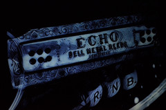 ECHO's of Rhythm & Blues (eyeamsterdam) Tags: echos rhythm blues bell metal reed rnb rb stillfe art musicinstrument vintage harmonica reeds love toets text writing