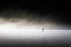 (Svein Nordrum) Tags: skiing winter crosscountryskiing xcskiing lake snow mist misty woods outdoors norway nordic activity motion light recreation wintertime february explore explored