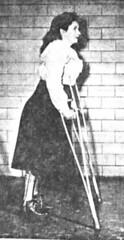 reh07-2 (jackcast2015) Tags: handicapped disabledwoman crippledwoman wheelchair paralysed poliogirl legbraces calipers polio