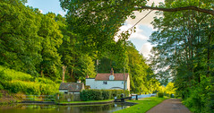 Hyde Lock,Kinver (williamrandle) Tags: wideangle hydelock kinver southstaffordshire staffordshire uk england 2016 summer staffordshireworcestershirecanal canal waterways towpath locks trees green house building outdoor landscape sky clouds beauty serene nikon d7100 tamron2470f28vc