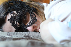 Mask #mask #maschera #girl #black #white (CavoloAmaro07) Tags: maschera girl mask white black