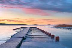 Vacancies (Peter Vestin) Tags: nikondf voigtländerultron4020slii siruin3204x siruik30x adobecreativecloudphotography topazlabscompletecollection alstersstrandbad alster karlstad värmland sweden vänern nature landscape seascape sunrise winter ice