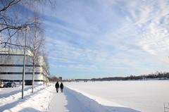 peter steggo2[0.1] (RUGGEDISED project) Tags: umelven vinter vven strandpromenaden promenad himmel sn gngstrk vvenexterir smartcity ruggedised h2020