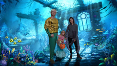 A mermaid, an octopus, and Aquaman! (Zozo's Photos) Tags: halloween underwater costumes octopus mermaid trickortreat photoshop edited layers