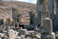 Found Photo - Iran - Persepolis - Archeological Site 12.tif (David Pirmann) Tags: iran ruins archeology persia persian unesco worldheritage xerxes parsa takhtejamshid achaemenid dpfoundphotoasia1976 persepolis