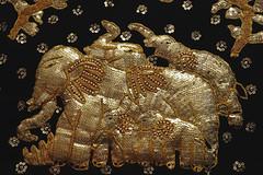 Thai Meal [84/365 2017] (steven.kemp) Tags: thai meal restaurant elephant embroidery black gold