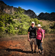 It's just around the next corner! Seems like we've been saying that for hours, but finally it's here, the end of the second day's trek. Strike a pose! (Neville Wootton Photography) Tags: burma glenniswootton holidays kalaw lightroom myanmar nwgw nevillewootton onestoptraveltours topazlabs trekking