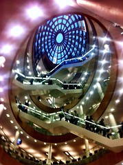 ~ Looking up at #The #Liverpool Library opening night (jenwren777) Tags: architecture liverpool library the uploaded:by=flickrmobile flickriosapp:filter=nofilter