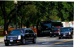 the Beasts are coming........... (LaTur) Tags: car dc cadillac dcist obama potus motorcade bho presidentialmotorcade welovedc