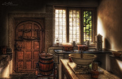 Dairy Scullery-Lanhydrock (Paul R. Boon) Tags: cornwall national butter trust dairy nationaltrust hdr lanhydrock photomatix tonemapping scullery