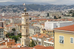 Rooftops in Nice, France (Tim Saxon) Tags: france nice europe mediterranean rooftops ctedazur oldtown frenchriviera vieuxnice toursaintfranois saintfranoistower