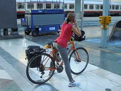 DSCN3958 (acme08) Tags: bicycle cycling railwaystation departure touring pannier milanocentrale discbrakes fulcrum