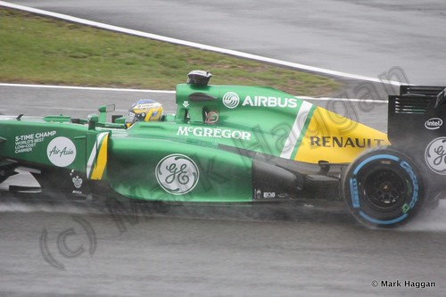 Charles Pic in Free Practice 1 for the 2013 British Grand Prix