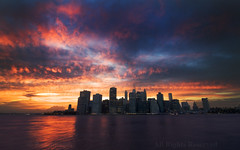 NEW YORK (BoazImages) Tags: city nyc sunset usa ny newyork landscape cityscape unitedstates scenic romantic boazimages