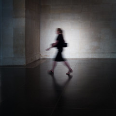 (donvucl) Tags: light shadow woman reflection london movement shade figure tatebritain blure donvucl