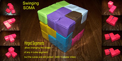Swinging SOMA (firstfold creative origami) Tags: origami puzzle soma swinging