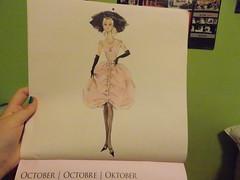 October (marinaamiller) Tags: sketch calendar barbie 2013