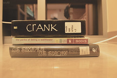 (sharneceas_) Tags: youth digital photography reading nikon reads books youngadult crank novels nikon3200 d3200 theperksofbeingawallflower assimpleassnow