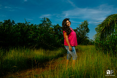 Parkala Portraits (travelling writer) Tags: portrait woman outdoor strobe swapna dimpy parkala x100s