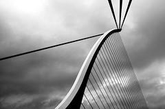 Beckett Harp (Dalliance with Light (Andy Farmer)) Tags: bridge ireland bw dublin architecture harp beckett riverliffey linescurves samuelbeckettbridge thephotographyblog