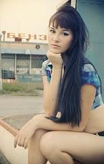 glamour (mariiashtefan) Tags: art girl beauty face station fashion studio model glamour gas petrol portret filling