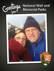 Taken with an iPhone app (Morganic Folk) Tags: obama inauguration 2013
