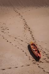 Naranjas. (jcof) Tags: orange beach portugal boat barco playa arena algarve naranja albufeira canoa rocha 2013