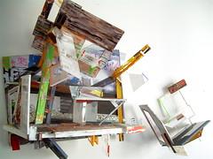 According to what and M.S. ( 2007 )  . Plexy, sable, cuivre, boulons, peinture, photo. Il y a deux fixations murales, et deux parties mobiles. (emmanuelviard75) Tags: sculpture mobile photo couleurs structure mur transparence murile matire plexy opacit