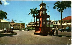 Berkeley Memorial - The Circus - Basseterre / St. Kitts (I Love St.Kitts & Nevis) Tags: road street city brown west green london english love clock monument fountain saint foundry island islands bay berkeley memorial downtown fort thomas circus mark centre president capital christopher honor ile meeting bank piccadilly center vert lord historic sugar route stop amour londres land charlestown horloge capitale christophe sir planter rue fontaine federation brun glascow stkitts antilles nevis welfare indies le historique 1883 kitts britannique anglais basseterre thecircus leeward innis probyn combermere saintkitts planteur honeur berkeleymemorial