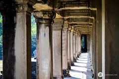 Angkor Wat exterior hallway.