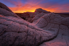 White Pocket Sunset (chris lazzery) Tags: sunset arizona sandstone desert brainrock vermillioncliffsnationalmonument whitepocket canonef14mmf28lii 5dmarkii cauiflowerrock