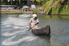 A Hard Life (Infinite Legends) Tags: poverty old people india fish water river boat fisherman ship fishermen poor hard paddle kerala row canoe rowing