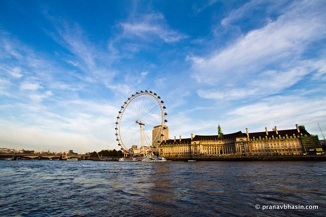 London Eye And River Thames, United Kingdom