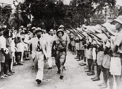 26-8-1945 - Tư lệnh Việt Nam Giải phóng quân Võ Nguyên Giáp duyệt binh lần đầu ở Hà Nội sau khi giành được chính quyền. (manhhai) Tags: people army asia southeastasia many military group vietnam prominentpersons groupofpeople indochina northvietnam largegroupofpeople vonguyengiap