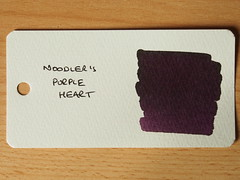 Noodler's Purple Heart - Word Card
