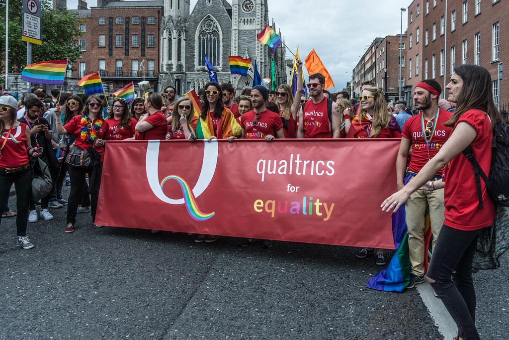 DUBLIN 2015 LGBTQ PRIDE PARADE [QUALTRICS FOR EQUALITY] REF-105996
