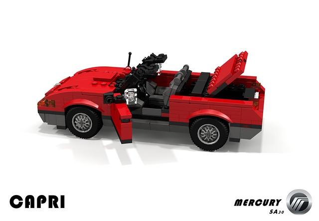 auto usa ford car america capri us model lego stuck mercury render australia convertible company turbo motor 1991 1989 challenge 92 1990s fwd 90s cad lugnuts roadster barchetta povray moc xr2 ldd miniland sa30 lego911 stuckinthe90s