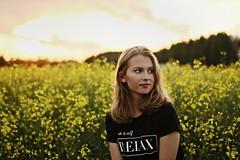 (annaariina) Tags: sunset summer flower girl field canon suomi summertime canoneos kesä canon50mmf14 finnishgirl summergirl canoneos550d