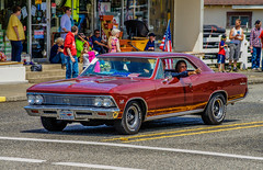 1966 SS396--DSC2790--Port Orford, OR (Lance & Cromwell back from a Road Trip) Tags: oregon sony parade oregoncoast 4thofjuly highway101 portorford 2015 sonyalpha currycounty 4thofjulyjubilee 4thofjulyparade2015
